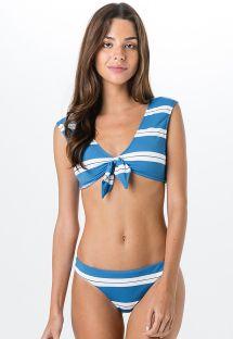 Bra bikini in blue and white stripes - MIRACLE SPORT BLUE