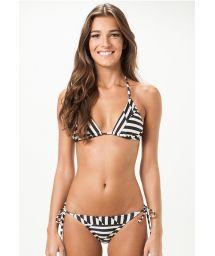 Geometric pattern Brazilian swimsuit - MISSOURI