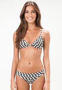 Bikini triangle fixe géométrique noir/blanc - OKLAHOMA