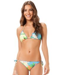 Floral scrunch Brazilian swimsuit bottom - PACAEMBU