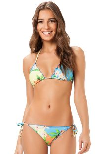 Floral scrunch Brazilian swimsuit bottom - PACAEMBU