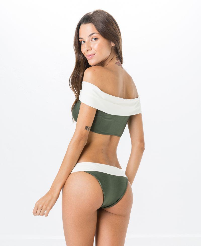 Grön och vit crop topp bikini - PALA MIRACLE LISO