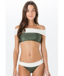 Green & white crop top bikini - PALA MIRACLE LISO