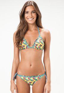 Playful print Brazilian bikini - PENSILVANIA