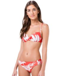 Two-coloured tropical balconette swimsuit - PIQUIRI