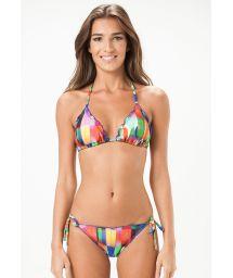 Multicoloured scrunch Brazilian swimsuit - PORTO RICO