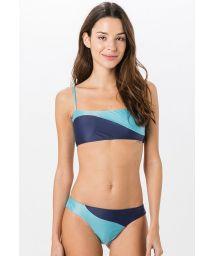 Bikini brassière imprimé bleu clair et foncé - RECORTE SOLIDS
