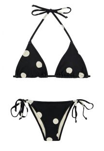 Svart bikini med prickar - ROLOTE POP PRETO