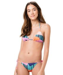 Brasiliansk bikini med färgat geometriskt mönster - ROLOTE PRISMA