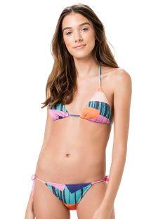 Brazilian bikini in colorful geometric print - ROLOTE PRISMA