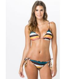 Ripple scrunch bikini in colorful stripes - SCRUNCH ARETHA