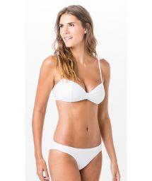 Textured white fixed bikini with bra top - SUMMER LISO CLOQUE BRANCO