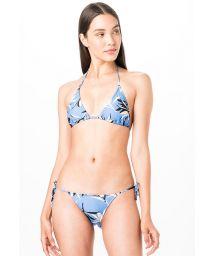 Blaugrundig geblümter Triangel-Bikini - TRIANGULO AZUL JONES