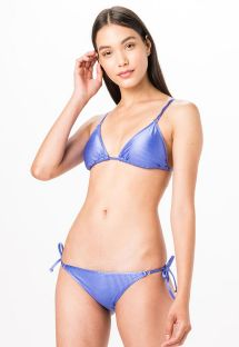 Lavender blue ribbed triangle bikini - TRIANGULO AZUL LISO CANELADO
