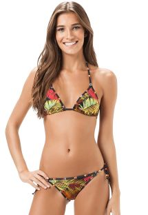 Brasiliansk bikini med tropisk mønster og stribede kanter - VIES BREEZE