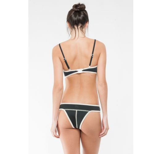 Bikini balconnet noir néoprène style rétro - LENA JACKIE