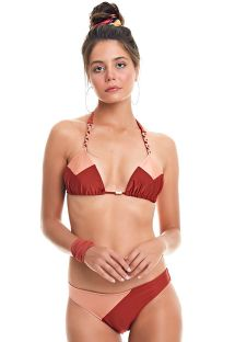 Two-tone triangle bikini braided stripes - BIQUINI SALAR