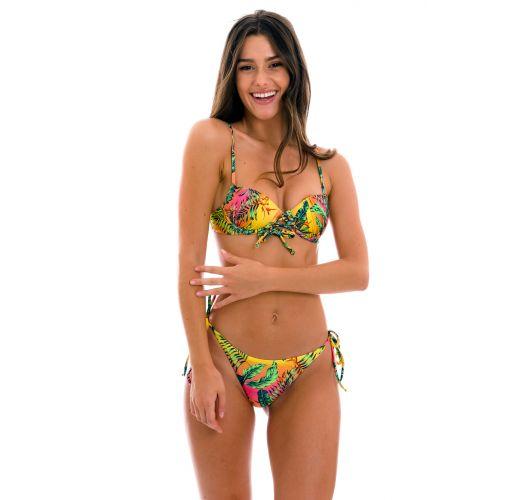 Colorful tropical push-up balconette bikini - SET SUN-SATION BALCONET-PUSHUP IBIZA-COMFY