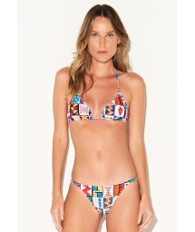 Luxurious multicolored ethnic Brazilian bikini - BIKINI CUSCO