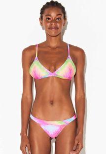 Colorful tie-dye fixed Brazilian bikini - BIKINI TIE DYE RAINBOW