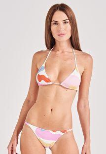 Colorful fixed triangle bikini - CLÁSSICO ARTSY