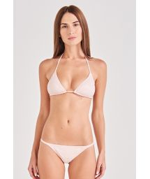 Nude spotted scrunch bikini with triangle top - CLÁSSICO ROSE