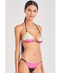 Pink, black and cream graded bikini - CLÁSSICO SPOTS