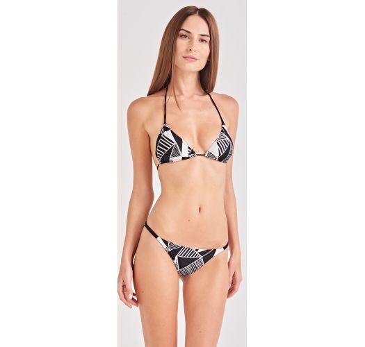 Black & white geometric triangle bikini - CLÁSSICO UMBRELLAS