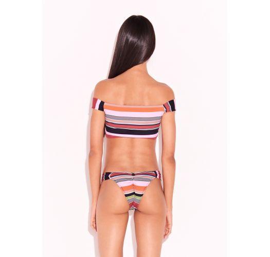 Bikini lussoa strisce multicolore con crop top - LISTRAS KITTY
