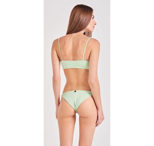 Light green bra bikini with slim sides bottom - LISTROS VERDE