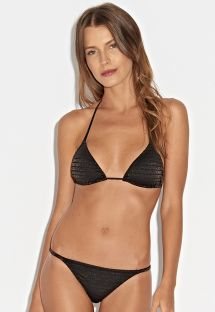 Black/gold lurex triangle bikini - LUZ DO DIA