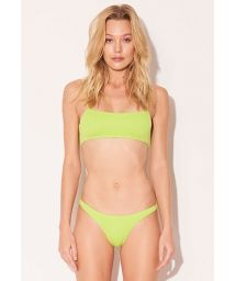 Neon yellow Brazilian scrunch bikini - NEON LIME