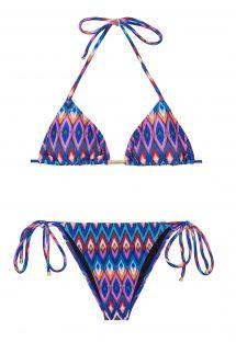 Kleurrijke driehoekige bikini met geometrische motieven - PHI