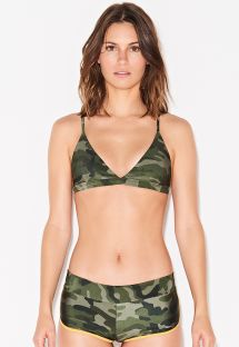 Triangel-Top, Shorty-Bikinihose, Tarnmuster - SHORTY CAMOUFLAGE