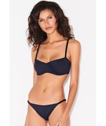 Brazilian black bikini with braided sides - SONHO PRETO