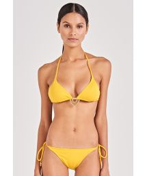 Accessorized yellow side-tie bikini - SUN KISS AMARELO