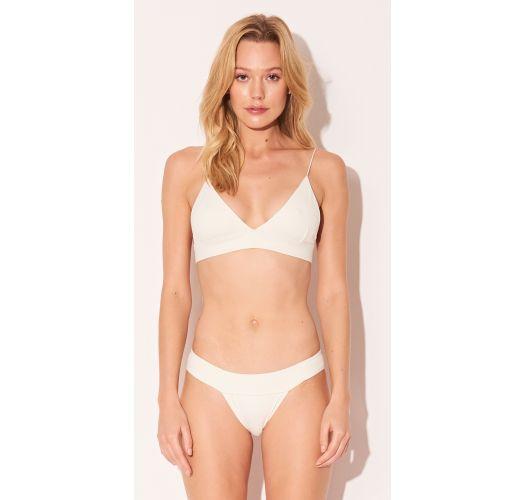Luxury cream Brazilian fixed bikini - TRIANGULO OFF WHITE