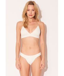Luxury cream Brazilian fixed bikini - TRIANGULO OFF WHITE