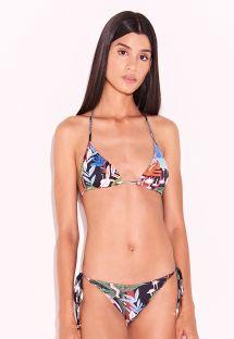 Wielokolorowe brazylijskie bikini w kwiaty - WINTER GARDEN