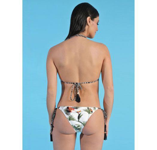 Brazilian bikini with mixed print (stripes & tropical) - REC ESTAMPADO