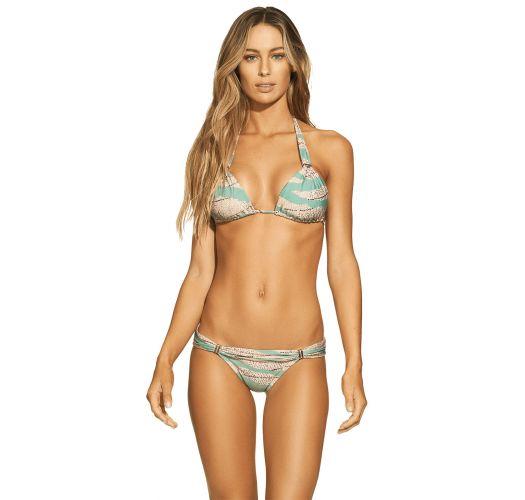 7b1f06580ad38 Green / Beige Fixed Brazilian Halter Bikini - Bia Tube Sandstone - VIX