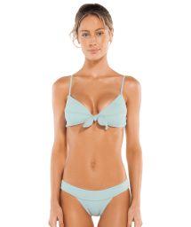 Luxurious pale blue bikini set - BOUCLE KNOT BRALETTE MALDIVES