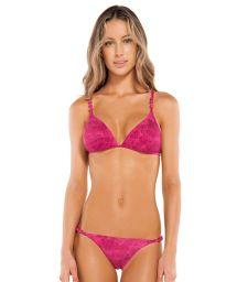 Fuchsia pink Brazilian bikini with knotted sides - ROPE FUCSIA