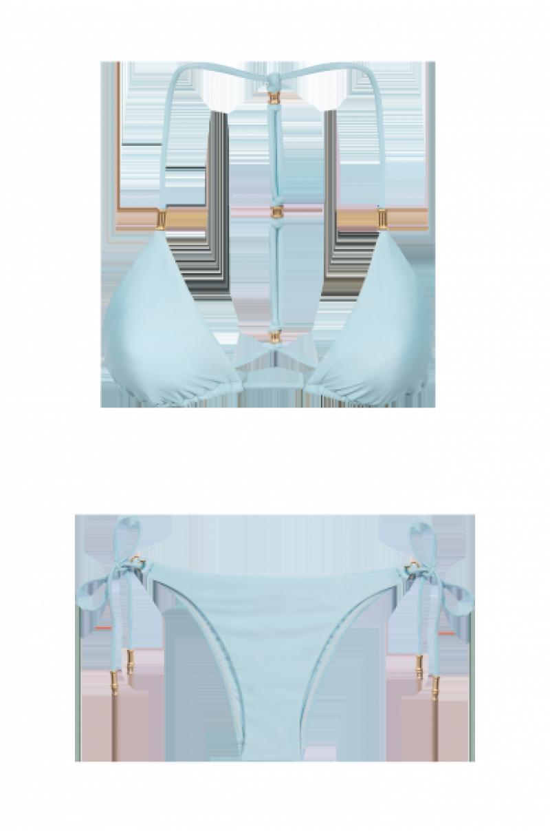 Accessorized luxurious pale blue bikini  - SHAYE TRI MALDIVES
