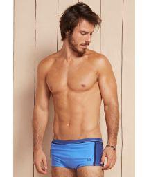 Sky blue and denim blue sunga swimming trunks - APOLO