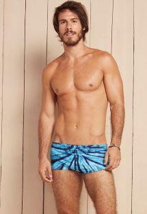 Mavi batık erkek yüzme mayosu - ARMY BALTICO TIE DYE