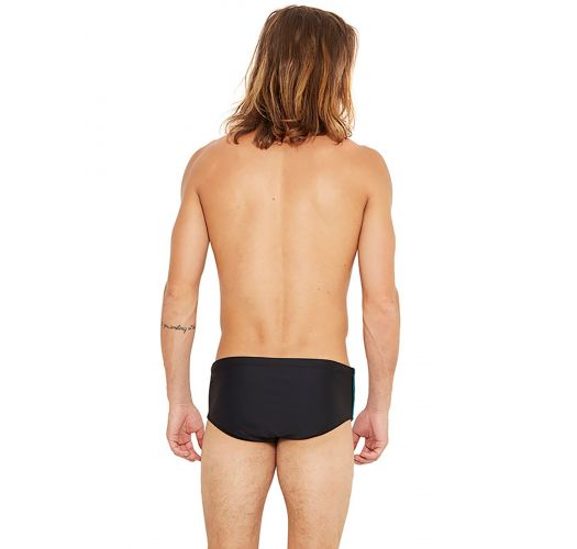 Black swim trunks with side stripes - COUNTRY DETAILS PRETO
