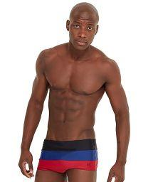 Tricolor strappy swim trunks - CREPUSCULO DIVINO