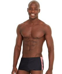 Black side-stripped swim trunks - DEL LISTRADO PRETO