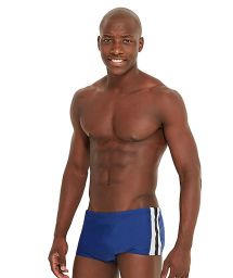 Dark blue swim trunks with side bands - HARBOUR FURACAO